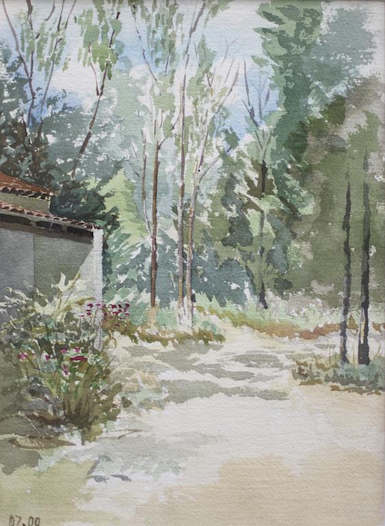 aquarelle Bagheera Corse