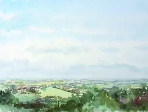 """Flanders view of """"le mont noir"""" Vlaanderen uitzicht op de berg Black 41 x 31"""